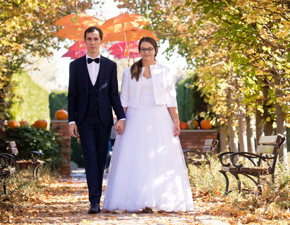 Jesienny plener ślubny Kapias