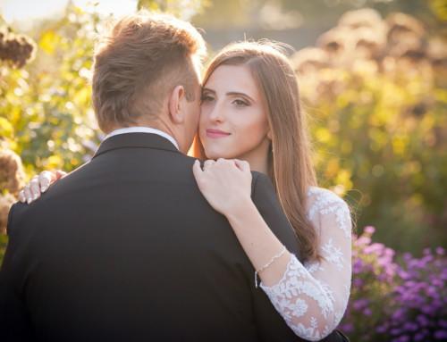 Plener ślubny w Ogrodach Kapias – Justyna i Piotr